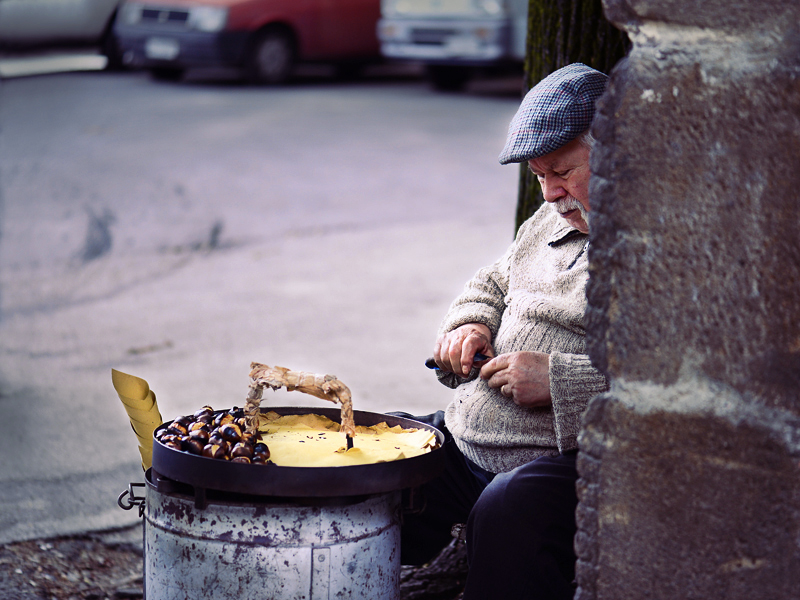 Chestnut Seller, Aventine Hill, Rome